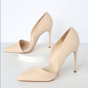 Chic Nude Pointed Toe Pumps Heels